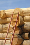 Log Home Construction Royalty Free Stock Image