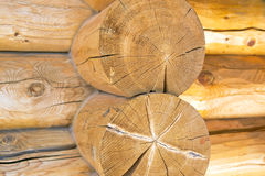 Log Home Construction Detail Stock Photos