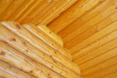 Log Home Construction Detail Royalty Free Stock Images