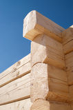 Log home construction detail Royalty Free Stock Photo