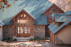 Log home front Stock Photography