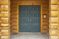 Log Home Front Door Detail Royalty Free Stock Photos
