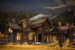 Log Home Illustration Royalty Free Stock Photo