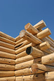 Log home under construction Stock Images
