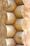 Log home wall detail Royalty Free Stock Photos