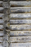 Log home wall detail Royalty Free Stock Images