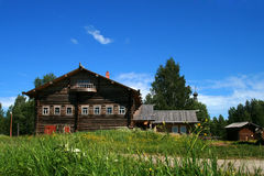 Log house. Old wooden log house - Russia - Arkhangelsk Stock Photo