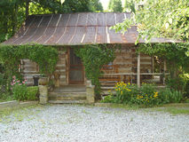 Log house. Old log house built in the 1800's stock image
