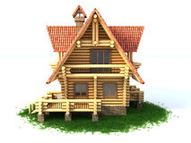 Log house 3d illustration Stock Photo