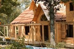 Log house construction Stock Image