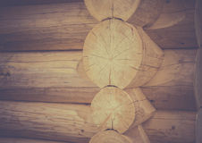 Log house corner details Royalty Free Stock Photography