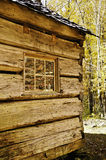 Log house in fall Royalty Free Stock Photos