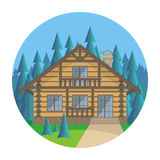 The log house Royalty Free Stock Images