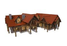 Log House Isolated Royalty Free Stock Image