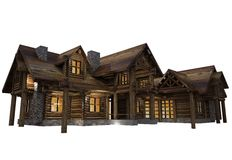 Log House Isolated Royalty Free Stock Photography