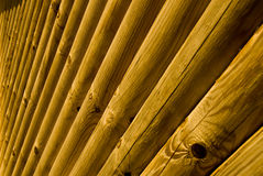 Log House Outside Wall Detail stock photography