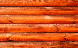 Log house red wood. Texture royalty free stock photo