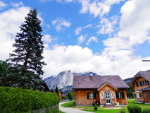 Log house, rural sceneic in Europe, Switzerland Royalty Free Stock Photo