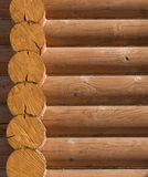 Log house structure of wood building home exterior Royalty Free Stock Images