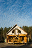 Log house under construction Royalty Free Stock Photos