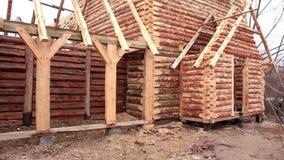 Log house stock video