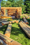 Log house under construction Stock Photography