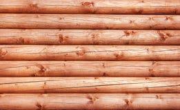 Log House Wall Stock Image
