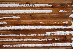 Free Log House Wall Covered With Snow Royalty Free Stock Images - 3632159