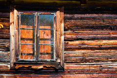 Log house window Royalty Free Stock Photography