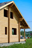Log house, wooden frame Royalty Free Stock Images