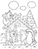 Log hut of animals Royalty Free Stock Photography