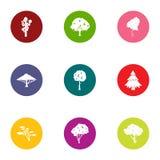Log icons set, flat style Royalty Free Stock Images