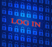 Log In Indicates World Wide Web And Encryption Royalty Free Stock Images