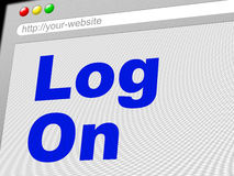 Log On Indicates World Wide Web And Enter Stock Photography