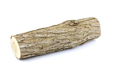 Log isolated on a white background. Stock Photos