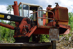 Log Loader Cab and Diesel Engine Stock Images