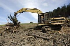 Log loader carrying logs Royalty Free Stock Image