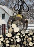 Log loader machinery Royalty Free Stock Images