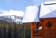 Log mountain cabin Stock Photos