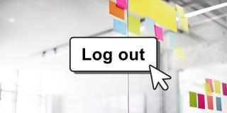 Log Out Online Technology Modern Interface Concept Stock Photos