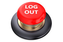 Log out Red button. Isolated on white background Royalty Free Stock Photography