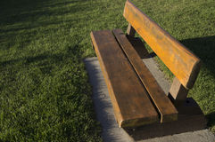Log Park Bench Rest Area Stock Photography