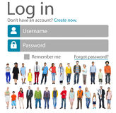 Log in Password Identity Internet Online Privacy Protection Conc Stock Photos
