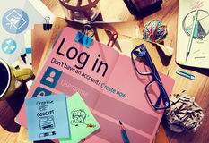 Log in Password Identity Internet Online Privacy Protection Conc Royalty Free Stock Image