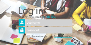 Log in Password Identity Internet Online Privacy Protection Conc. People Log in Password Identity Internet Online Privacy Protection Royalty Free Stock Image
