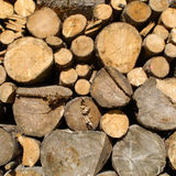 Log Pile. Round Log Pile for Firewood Royalty Free Stock Photography