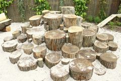 Log pile Stock Images