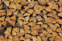 Log Pile Closeup Royalty Free Stock Image