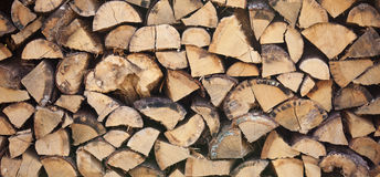Log pile Royalty Free Stock Images