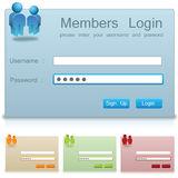 Log in section royalty free illustration